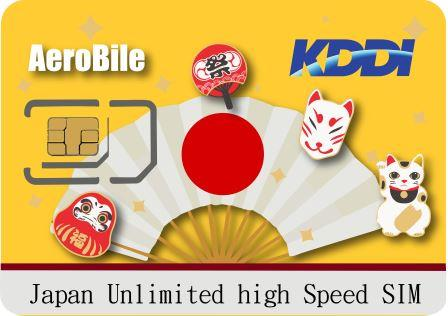 Japan Kddi 5 days unlimited SIM