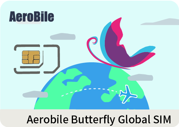 Aerobile Butterfly Global SIM- Rechargeable!