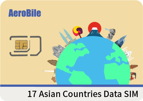 17 Asian countries 5 days unlimited Data SIM