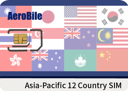 Asia-Pacific 12 Country SIM card