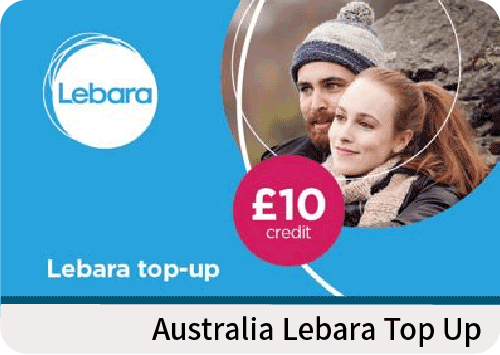 Australia Lebara top up AUD10