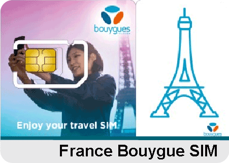 France Bouygues SIM-20GB Data+ voice (Must be activated in France for the first time)