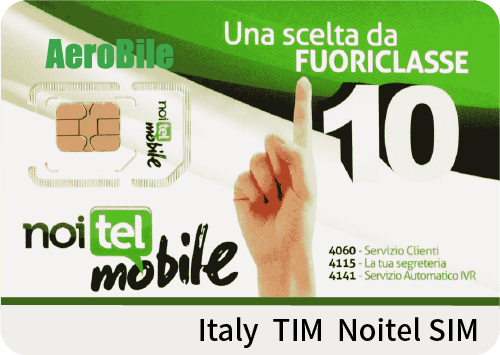Italy TIM Noitel SIM w/ €2, data optional