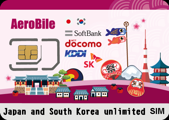 Japan and South Korea unlimited SIM