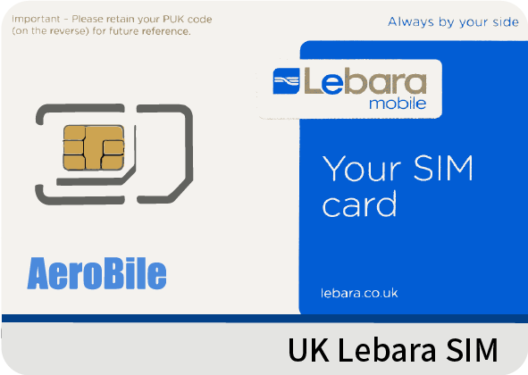 UK Lebara SIM card credit £5