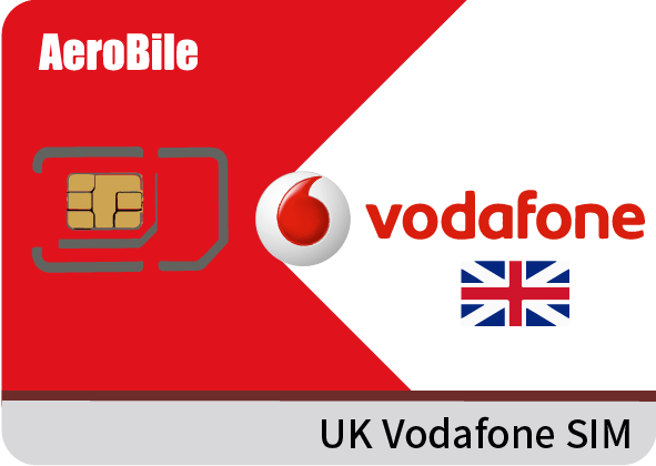 UK Vodafone SIM card - 24GB data / 3000min talk / unlimited text
