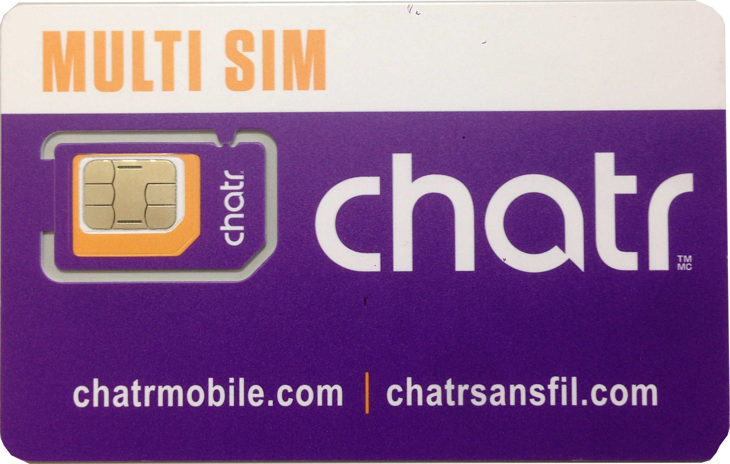 Canada ChatR SIM card 30 days unlimited calls & data